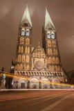 Nacht in Bremen royalty-vrije stock afbeelding