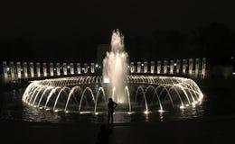 Nacht am Brunnen Lizenzfreies Stockfoto