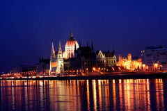 Nacht Budapest 1 Lizenzfreies Stockbild