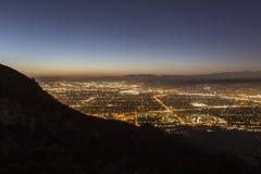 Nacht Burbanks Kalifornien Lizenzfreie Stockfotos