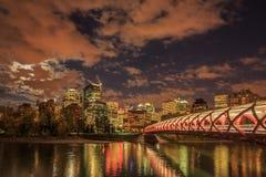 Nacht Calgary royalty-vrije stock afbeelding