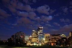 Nacht Calgary royalty-vrije stock afbeeldingen