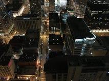 Nacht in Chicago stockfoto
