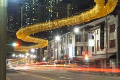 Nacht in Chinatown lizenzfreies stockbild