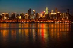 Nacht in Chongqing Stockfotografie