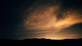 Nacht-cloudscape stock footage