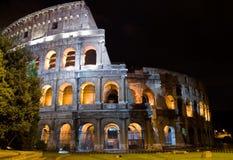 Nacht Coliseum stock afbeeldingen