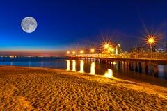 Nacht Coronado Pier San Diego lizenzfreie stockbilder