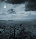 Nacht in de bergen Stock Foto