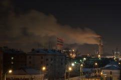 Nacht in de stad stock afbeelding