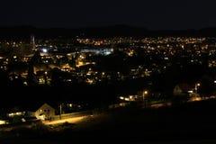 Nacht in de stad Stock Foto's