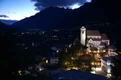 Nacht in den Alpen 2 Lizenzfreies Stockfoto