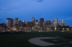 Nacht in Denver Lizenzfreies Stockfoto