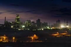 Nacht der Betriebsindustrie Stockfotografie