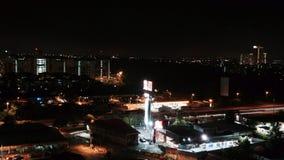 Nacht an der Stadt lizenzfreie stockfotografie