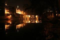 Nacht in der Stadt Stockfotografie