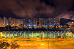Nacht des Stadions Stockbild
