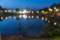 Nacht die in het park kamperen Stock Fotografie