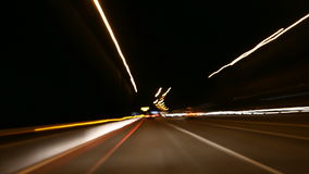 Nacht die POV-Tijdtijdspanne drijven 4K / UHD stock video