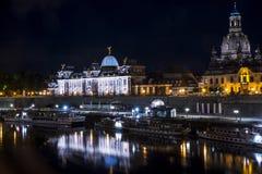 Nacht Dresden Stock Afbeelding