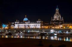 Nacht Dresden Stock Fotografie