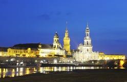 Nacht Dresden lizenzfreies stockbild