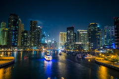 Nacht Dubai Lizenzfreies Stockfoto