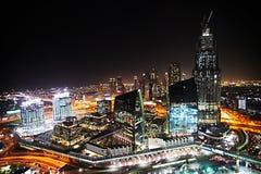 Nacht Dubai Lizenzfreies Stockbild