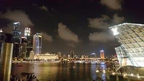 Nacht in einer Stadt Stockbilder