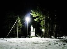Nacht en licht stock foto's