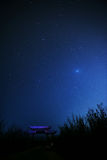 Nacht en sterren Stock Foto's