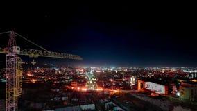 Nacht Eriwan, Armenien timelapse Ansicht vom Überblick über die Kaskade stock video