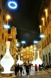Nacht in Florence, Italië Royalty-vrije Stock Foto's