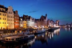 Nacht Gdansk, Polen Lizenzfreie Stockfotografie