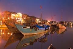 Nacht geschossen von Hoi. Vietnam Lizenzfreies Stockfoto