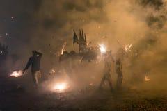 Nacht godsdienstige optocht Stock Foto's