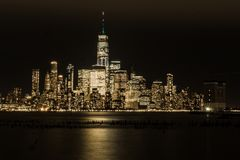 Nacht in Gotham royalty-vrije stock foto's