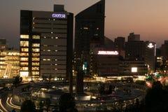 Nacht in Hamamatsu stockfotos