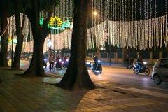 Nacht Hanoi Stock Afbeeldingen