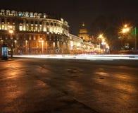Nacht heilige-Petersburg stock fotografie