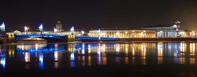 Nacht heilige-Petersburg stock foto