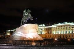 Nacht heilige-Petersburg stock afbeelding