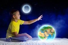 Nacht het dromen Stock Afbeeldingen