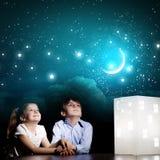 Nacht het dromen Stock Fotografie
