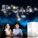 Nacht het dromen Royalty-vrije Stock Afbeelding