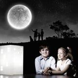 Nacht het dromen Stock Foto's