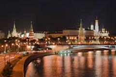 Nacht het Kremlin Stock Afbeeldingen