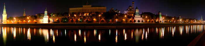 Nacht het Kremlin Stock Foto