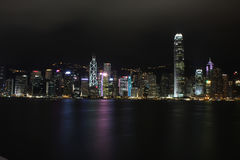 Nacht Hong Kong Lizenzfreie Stockbilder