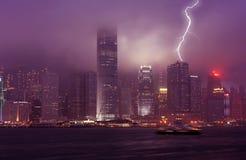Nacht Hong Kong Lizenzfreie Stockfotografie